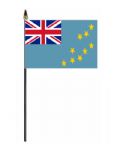 Tuvalu Country Hand Flag - Small.